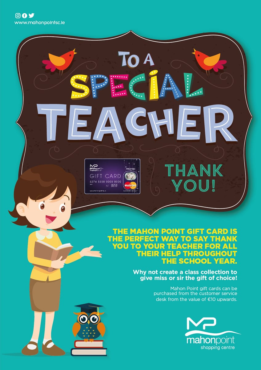 Thank You Teacher Gift Guide | Mahon Point Shopping Centre